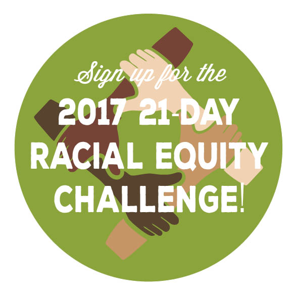 """Sign up for the 2017 21-Day Racial Equity Challenge!"" icon"
