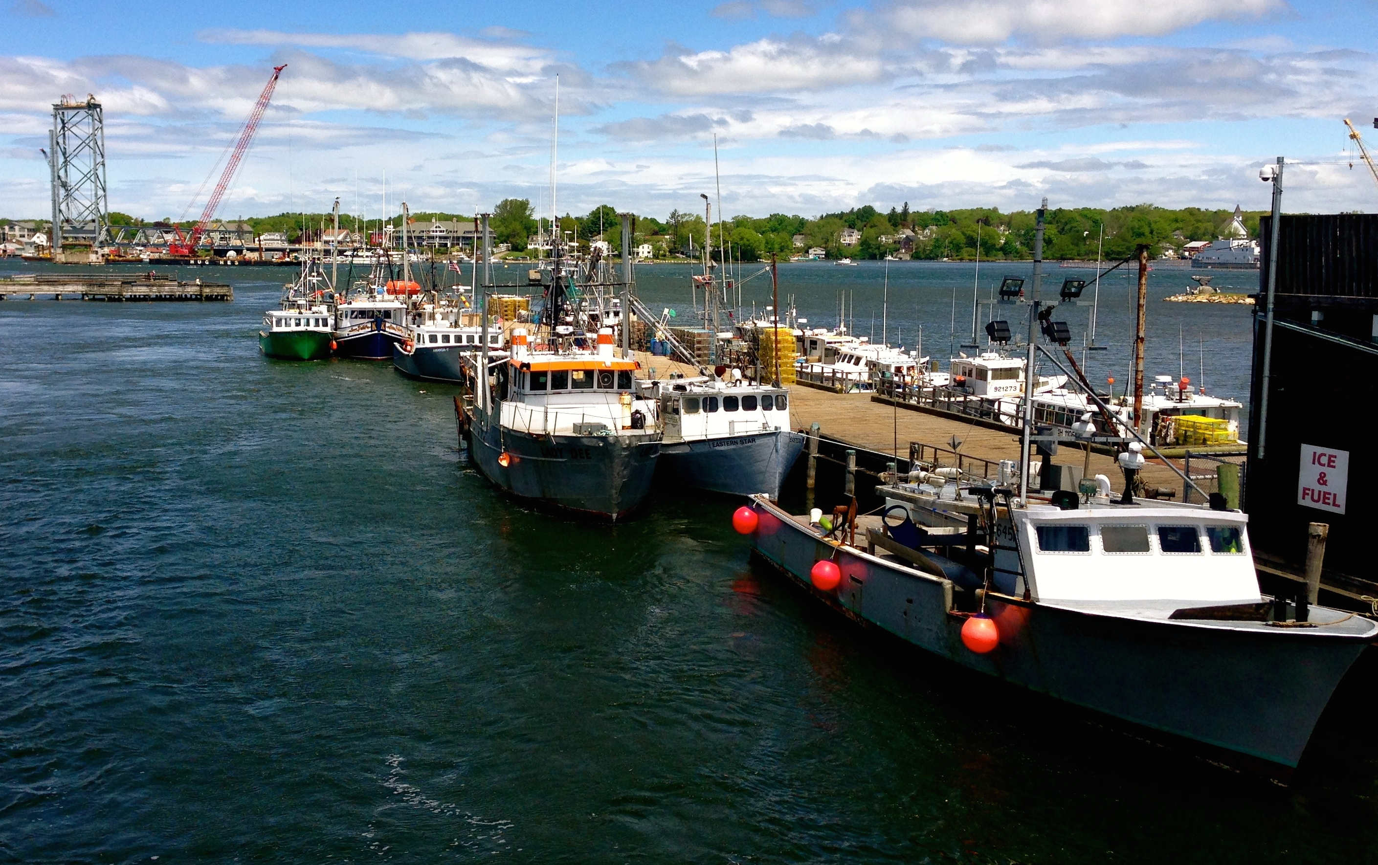 A few boats in NHs fishing fleet Portsmouth NH by Jessica Boynton