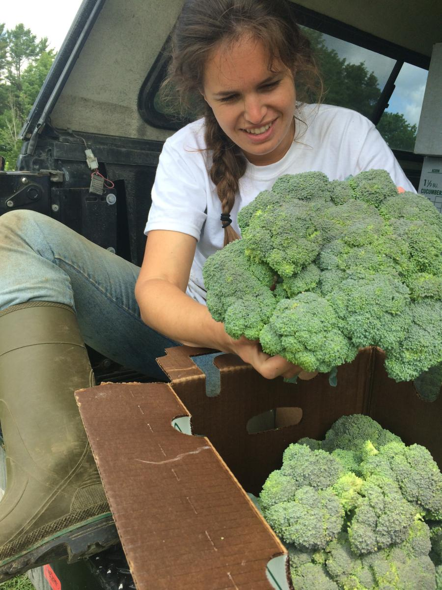 Andrea Solazzo with broccoli