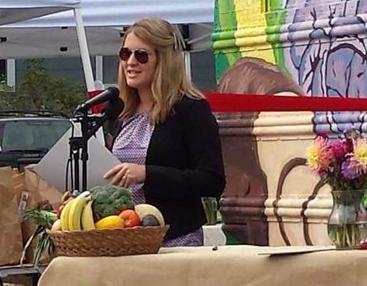 Emily Horton at Good Food Bus launch