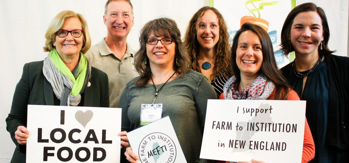 Chellie Pingree and policymakers: I <3 Local Food, I support Farm to Institution in New England, Maine Farm To Institution
